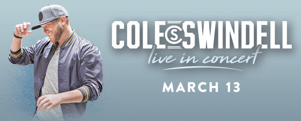 Cole Swindell live in concert banner